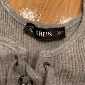 SHEIN Tops - Gray Bodysuit